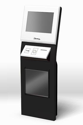 低価格かつアピール性あふれるデザインのKiosk端末