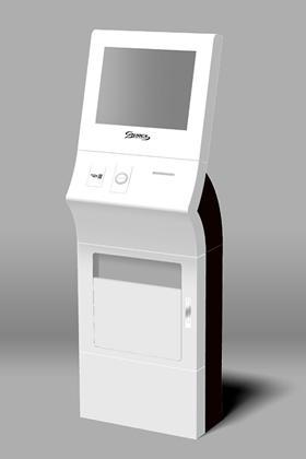 低価格で実現したモダンデザインのKiosk端末
