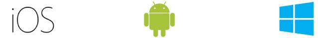 iOS、Android、Windowsなどに対応。